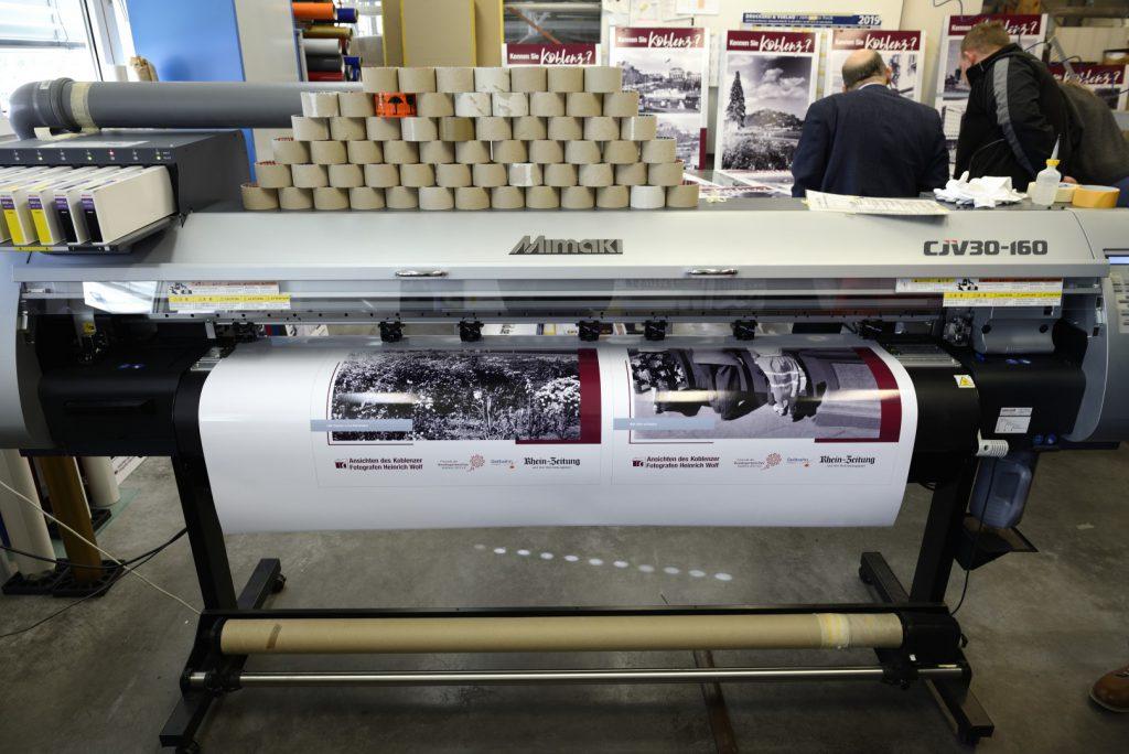 Die Digitaldrucke der Firma Saebel GmbH aus Lahnstein überzeugen mit ihrer Farbqualität.