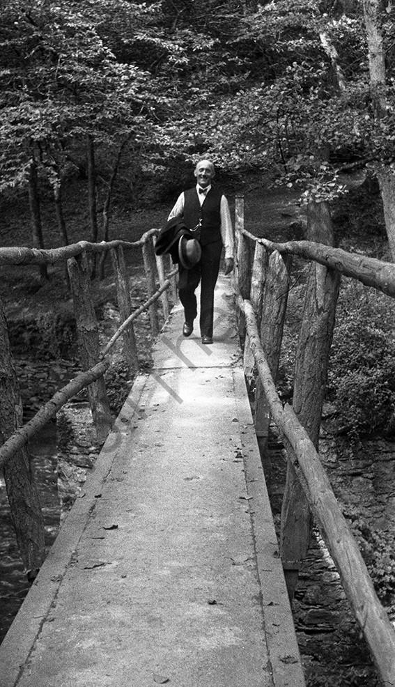 Moselkern, sein Vater Peter Wolf, 1942, Heinrich Wolf Frühling an der Mosel