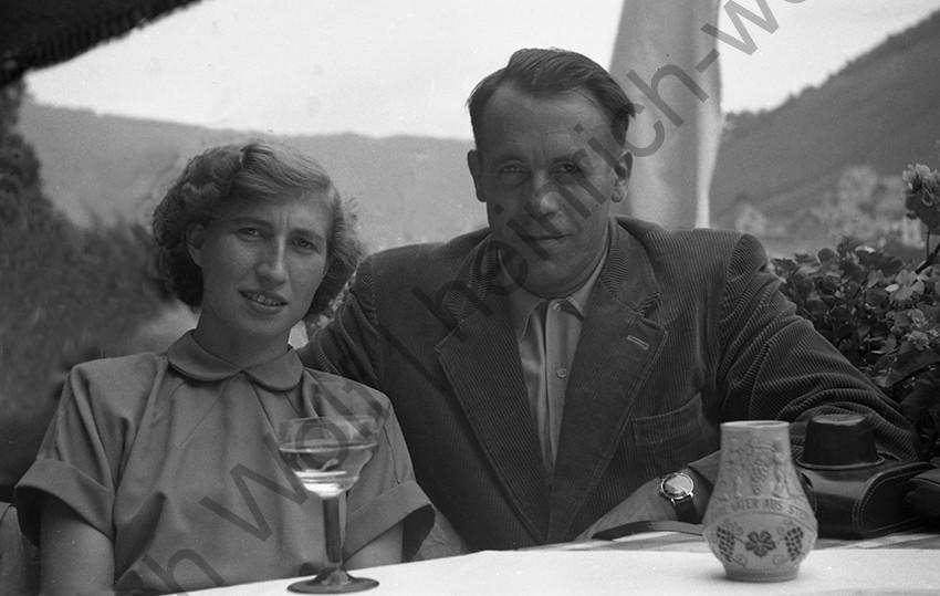 Elisabeth und Heinrich Wolf, 1953, Heinrich Wolf Frühling an der Mosel