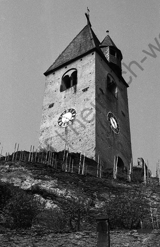 Kobern, Alter Kirchturm, 1958, Heinrich Wolf Frühling an der Mosel